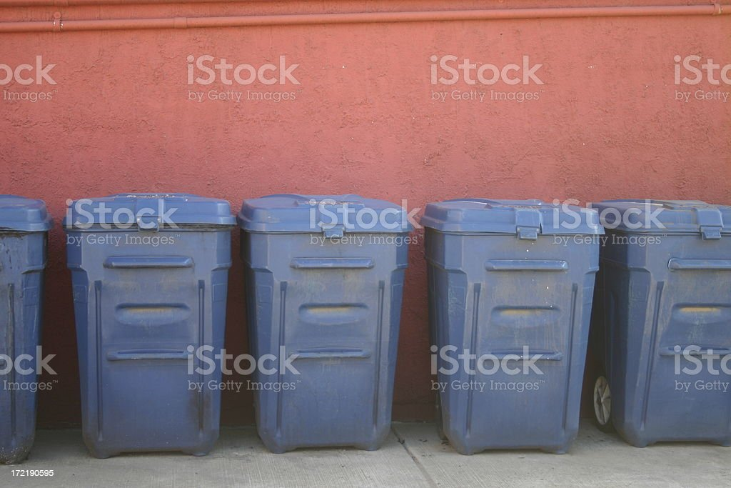 Garbage cans royalty-free stock photo