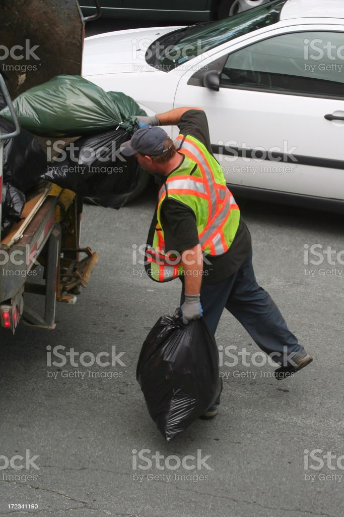 Garbage Collection royalty-free stock photo