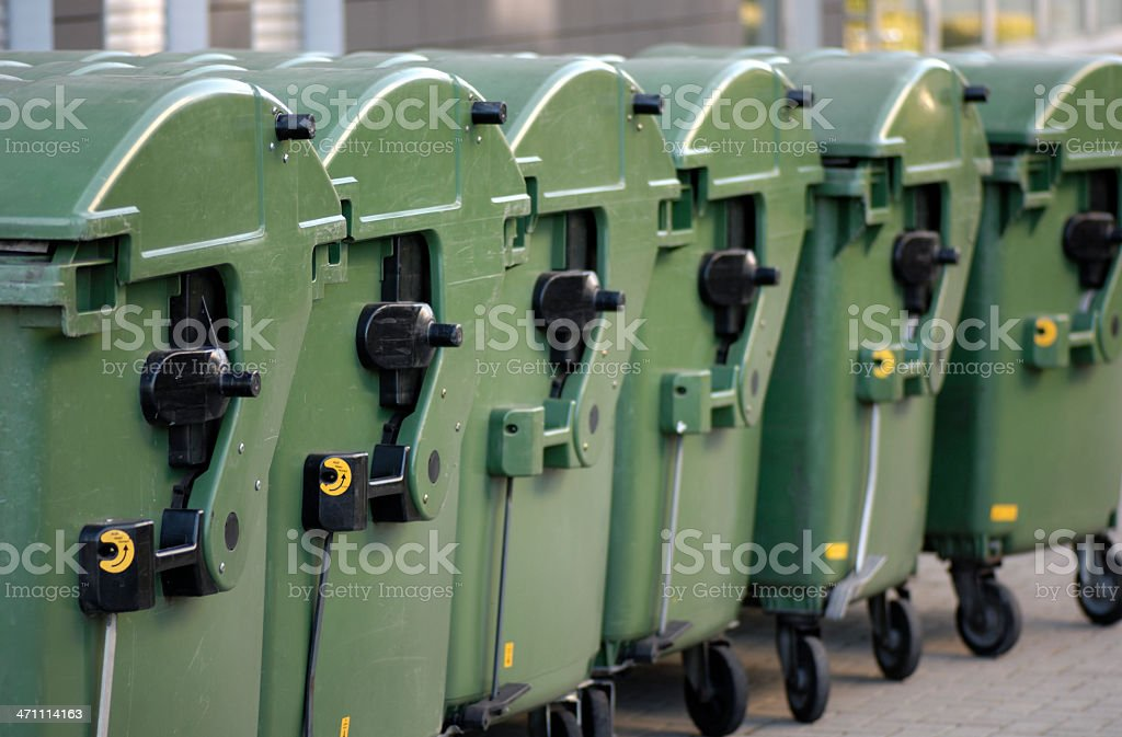 Garbage containers royalty-free stock photo