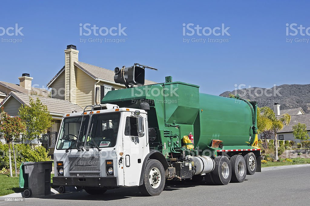 Garbage Day Pickup stock photo