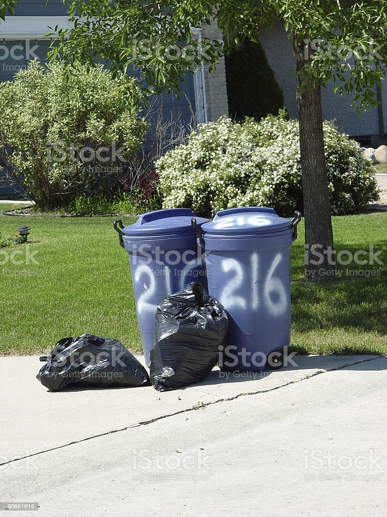 Garbage day stock photo
