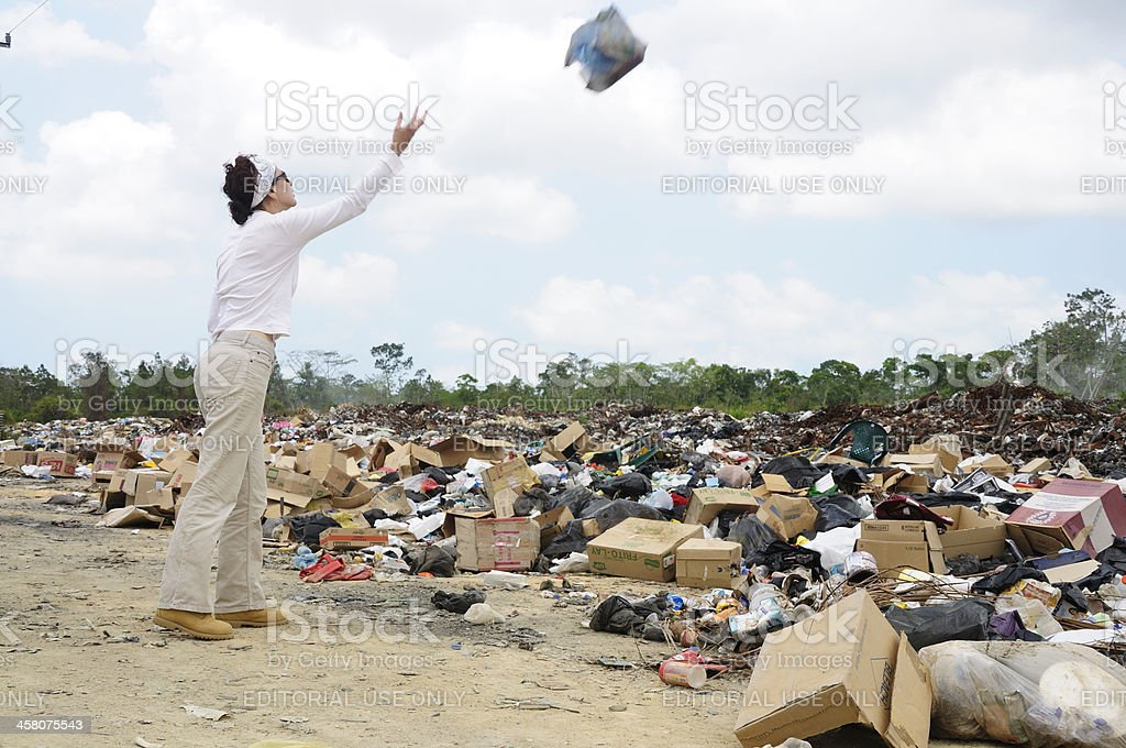 Garbage disposal site stock photo