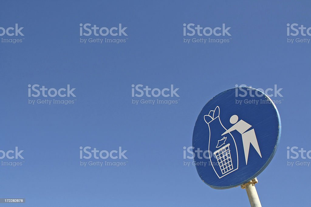 Garbage dump here! royalty-free stock photo