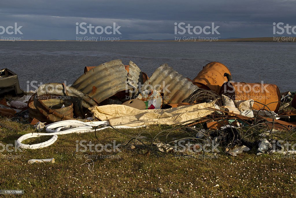 Garbage dump royalty-free stock photo