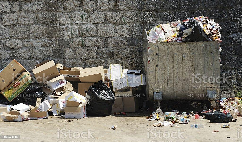 Garbage in Montenegro stock photo