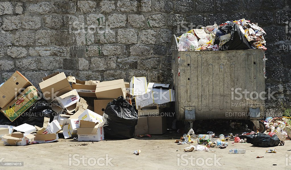 Garbage in Montenegro stock photo
