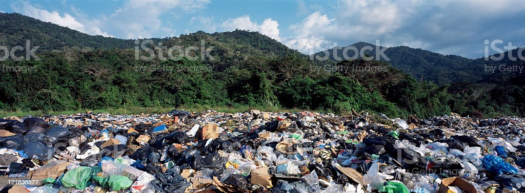 Garbage landscape stock photo