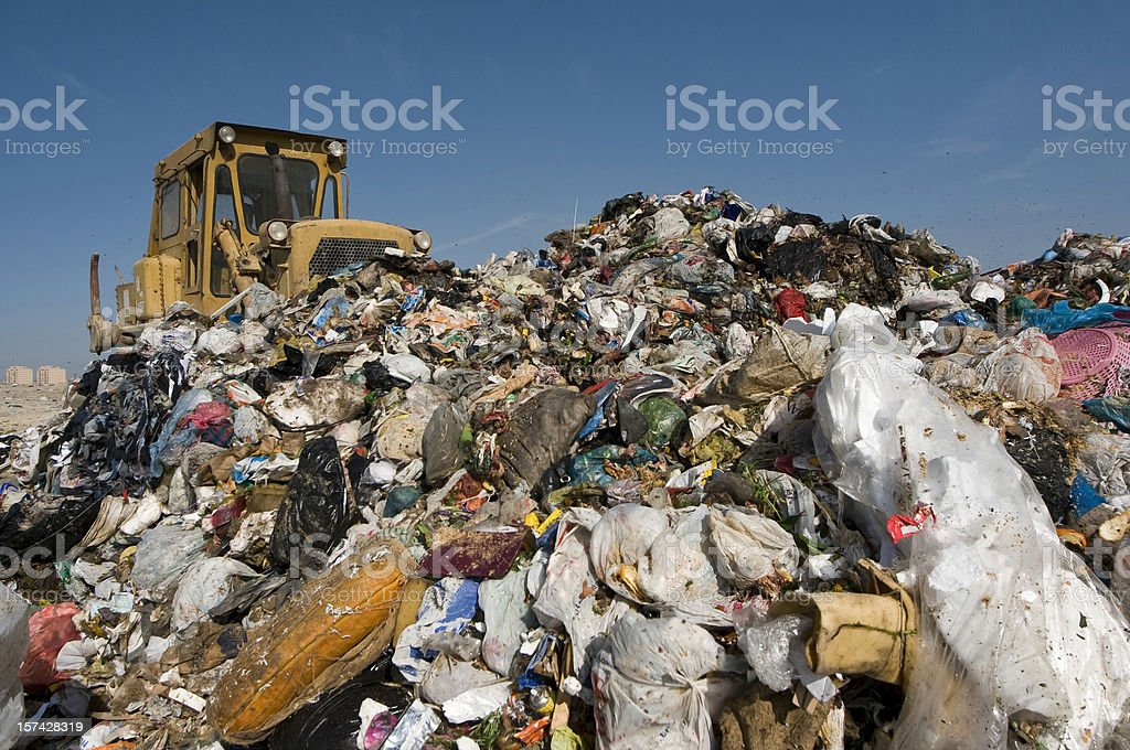 Garbage Mountain stock photo