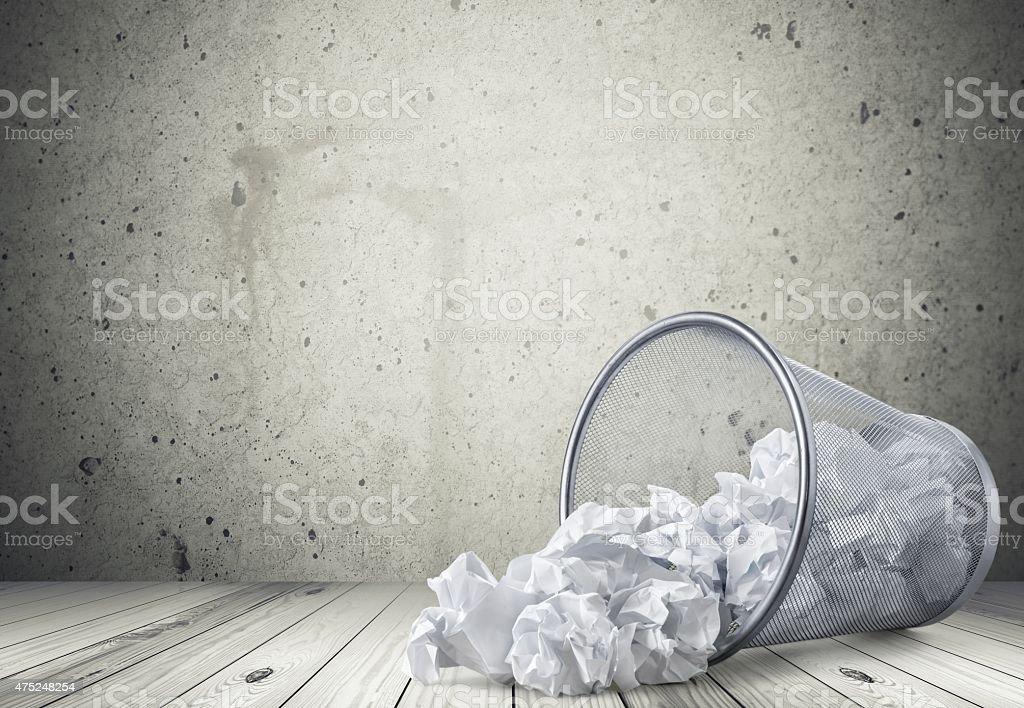 Garbage, Paper, Wastepaper Basket stock photo