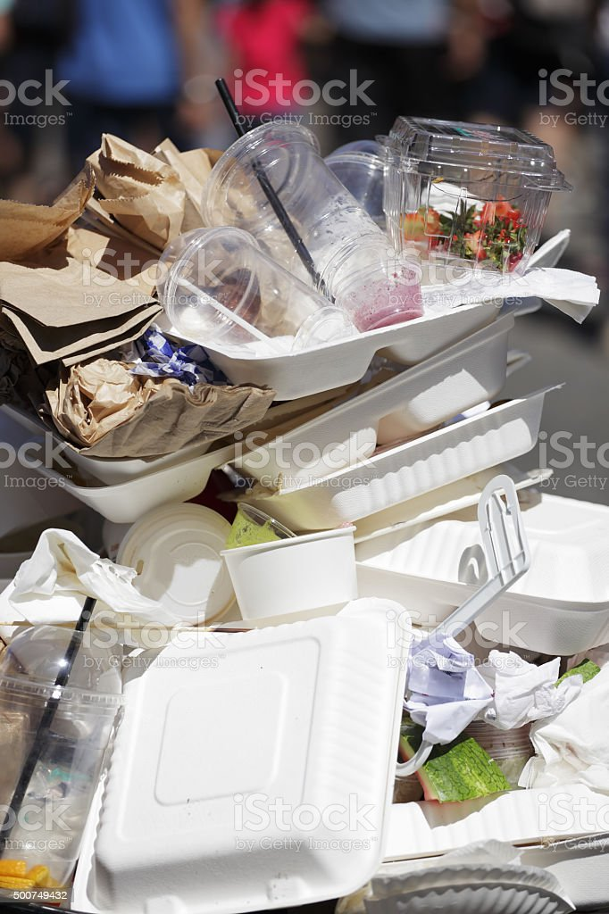 Garbage stock photo