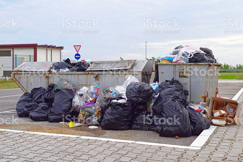 Garbage problems stock photo