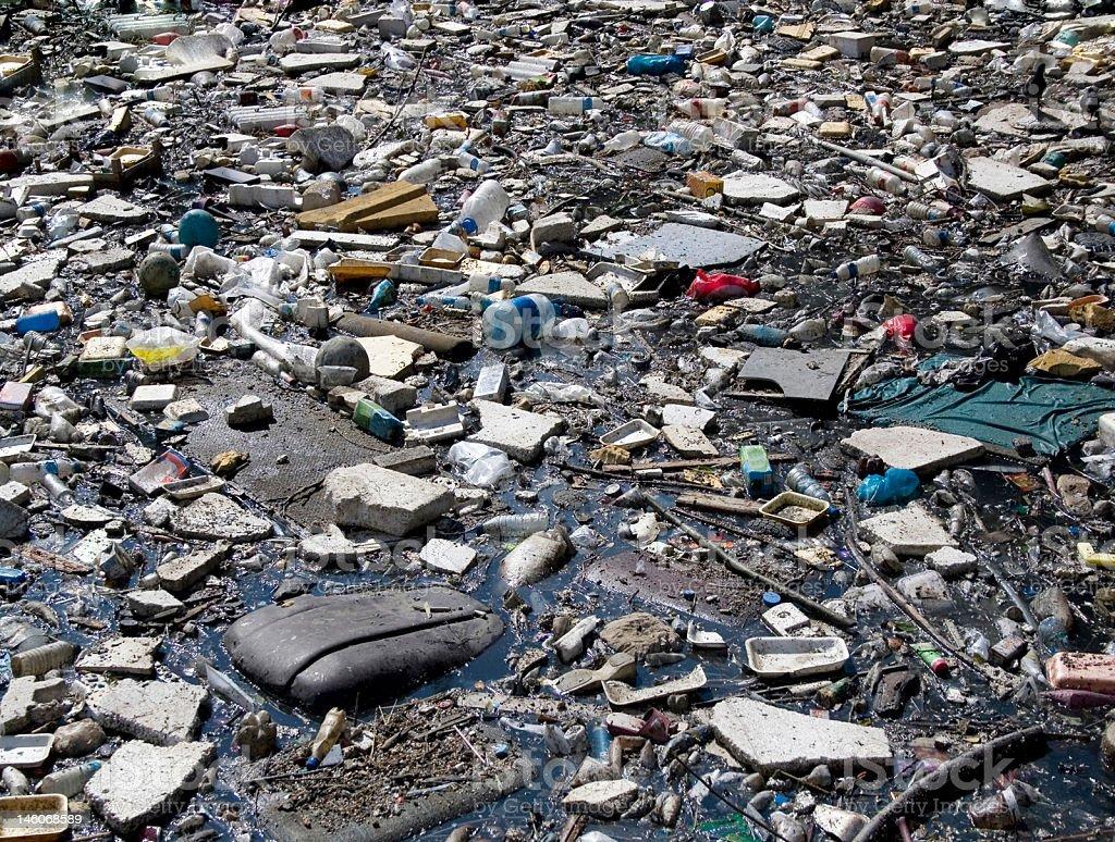 Müll Pfütze Lizenzfreies stock-foto