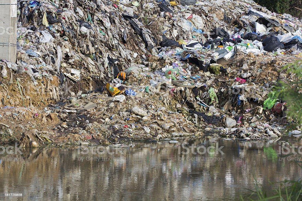 Garbage puddle royalty-free stock photo