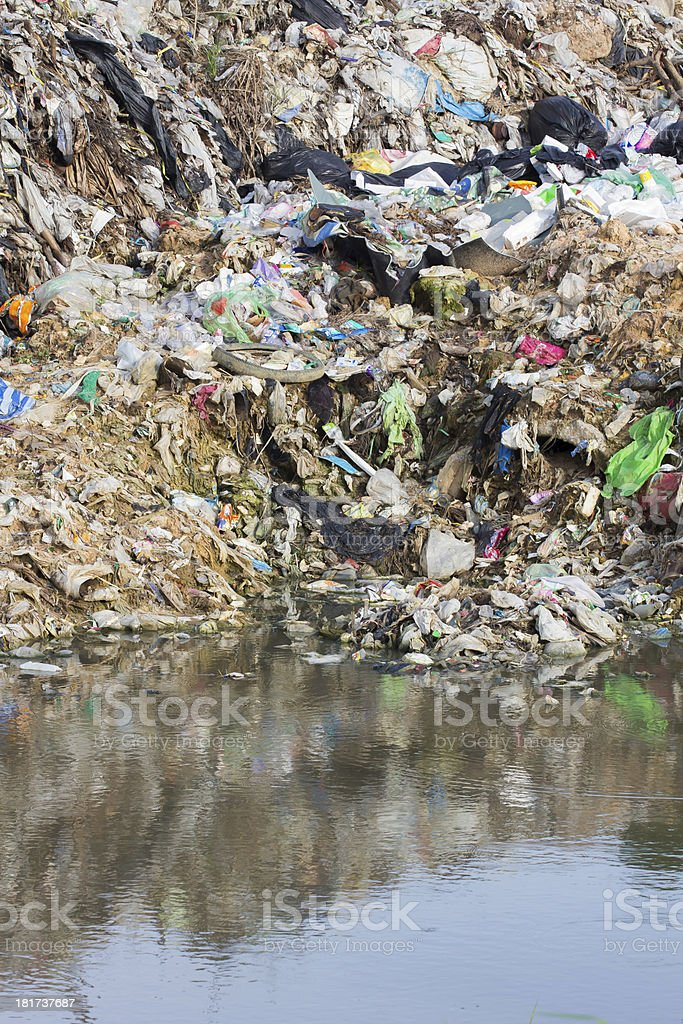Garbage puddle royalty-free stock photo