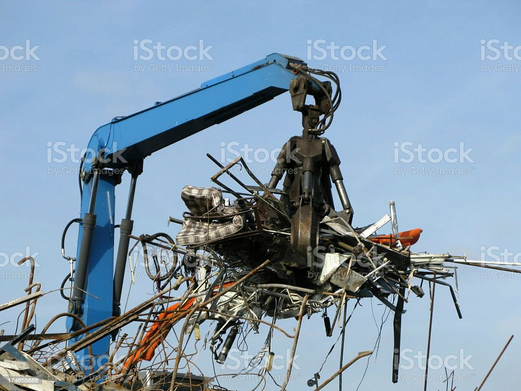 Garbage recycling stock photo