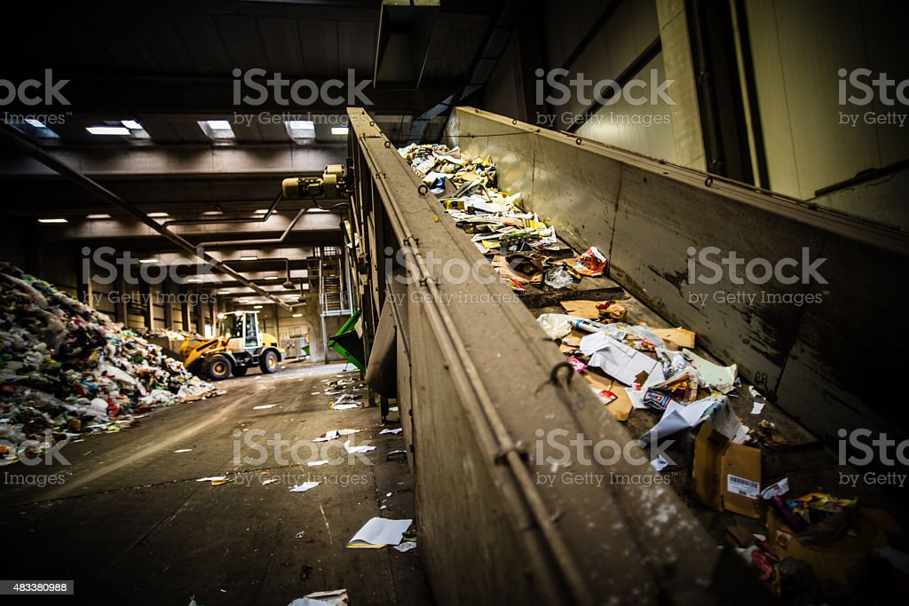 Garbage recycling plant stock photo