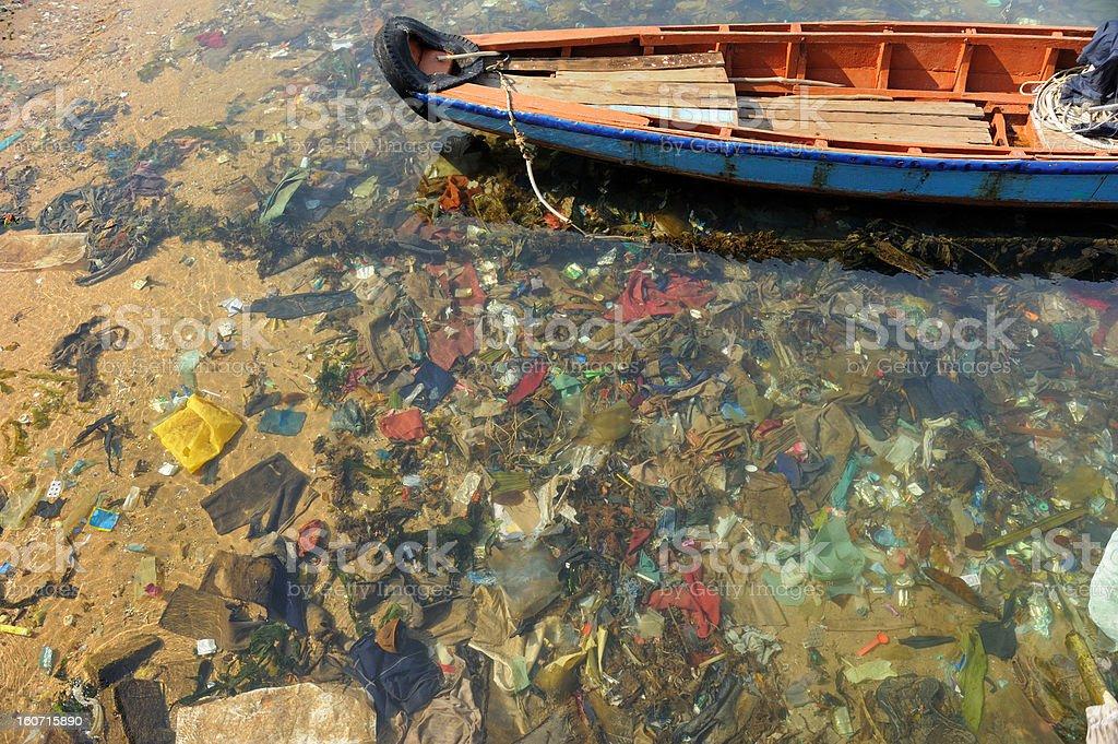 Garbage sea stock photo