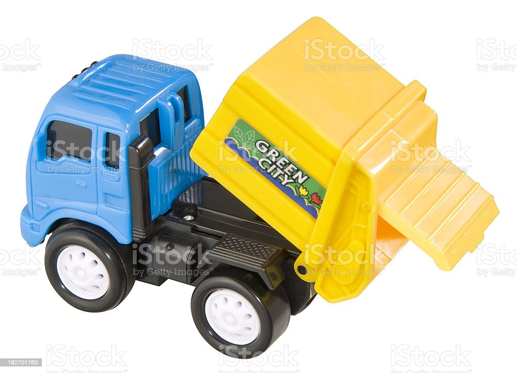 Garbage Truck Toy royalty-free stock photo