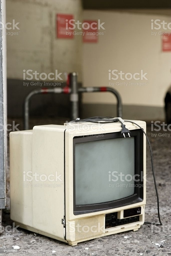 garbage TV royalty-free stock photo