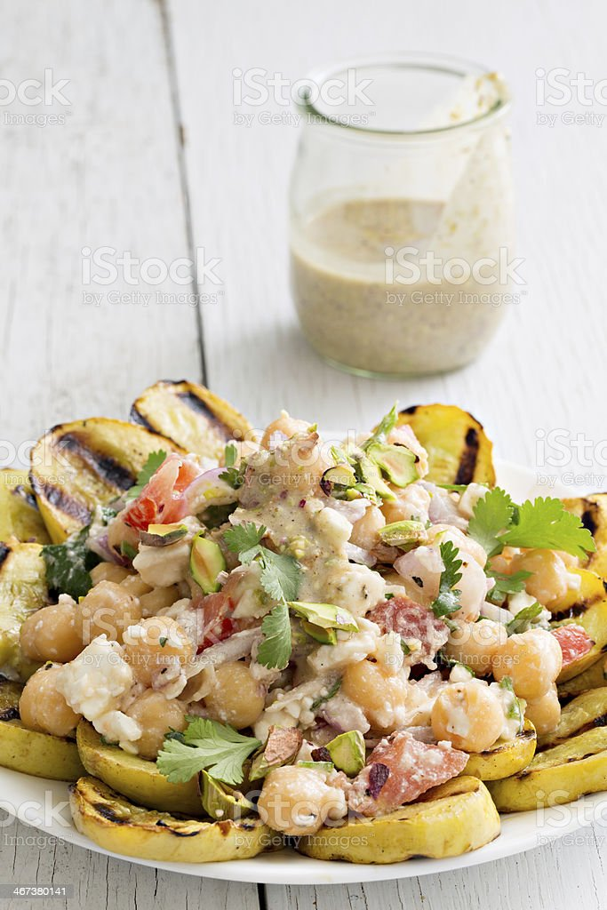 Garbanzo Salad stock photo
