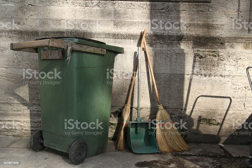 garbege container stock photo