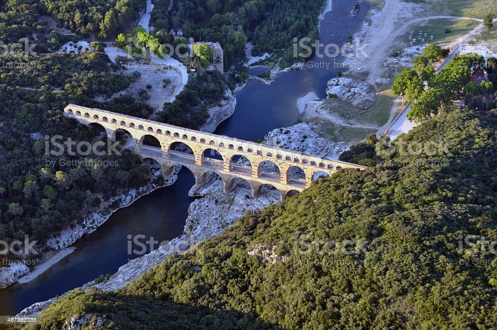 Gard Bridge stock photo