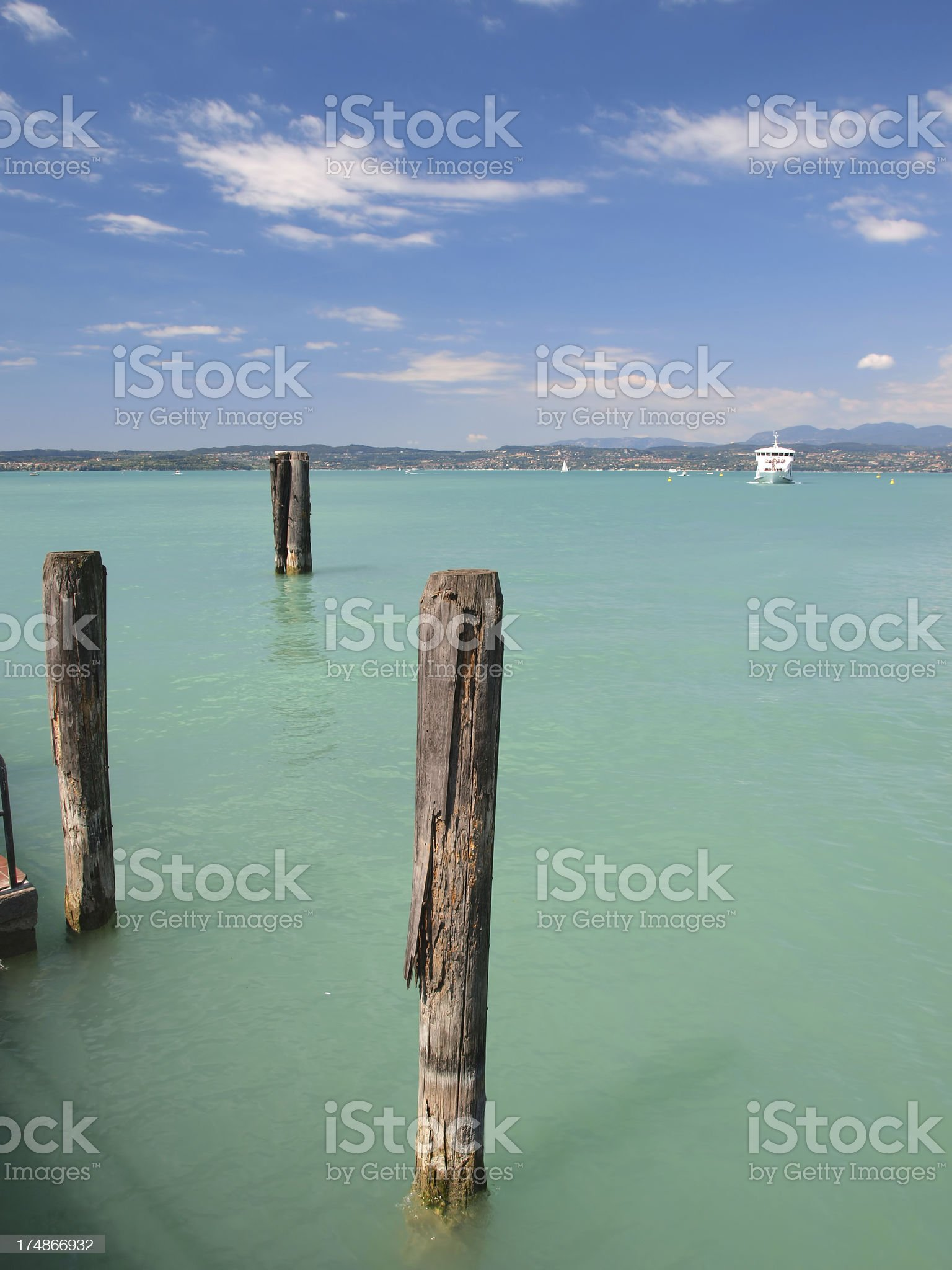 Garda lake in Sirmione royalty-free stock photo