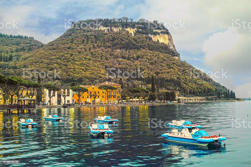 Garda lake, Italy stock photo