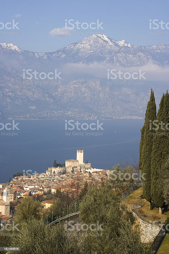 Garda Lake - Malcesine stock photo