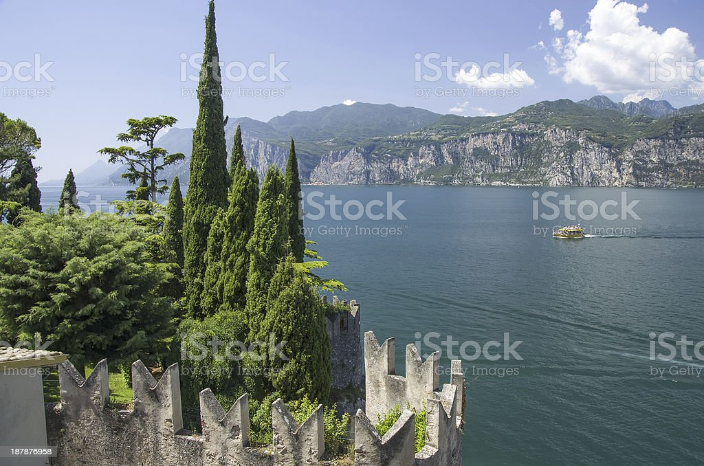 Garda lake stock photo