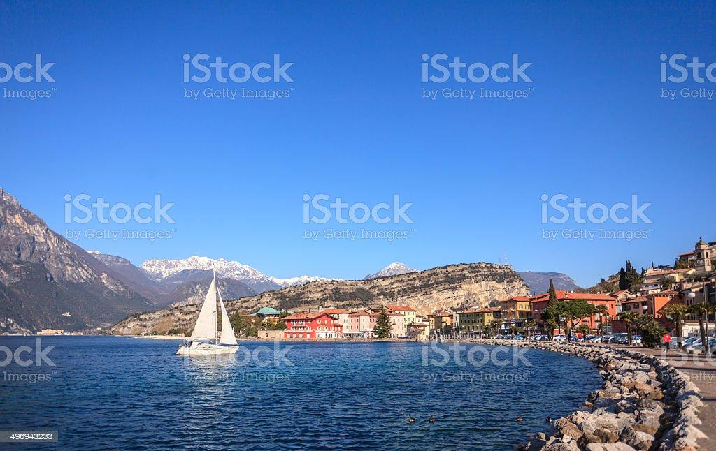 Garda Lake - Torbole stock photo