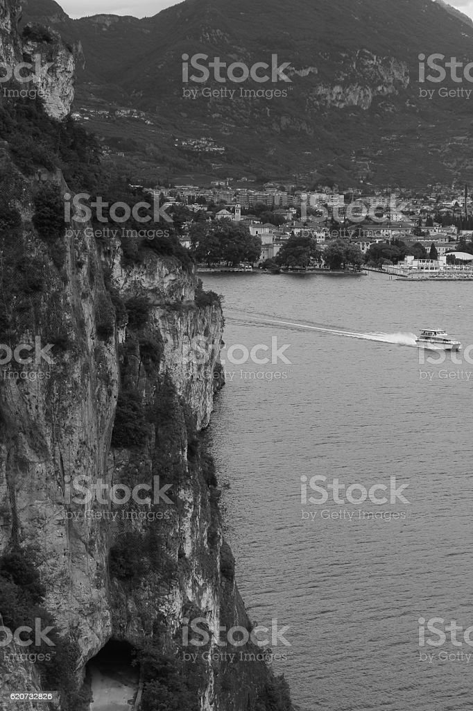 Garda Lake Walk stock photo