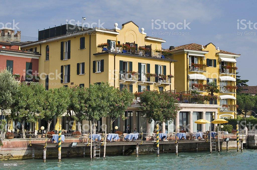 Garda lakeside, Sirmione, Italy royalty-free stock photo