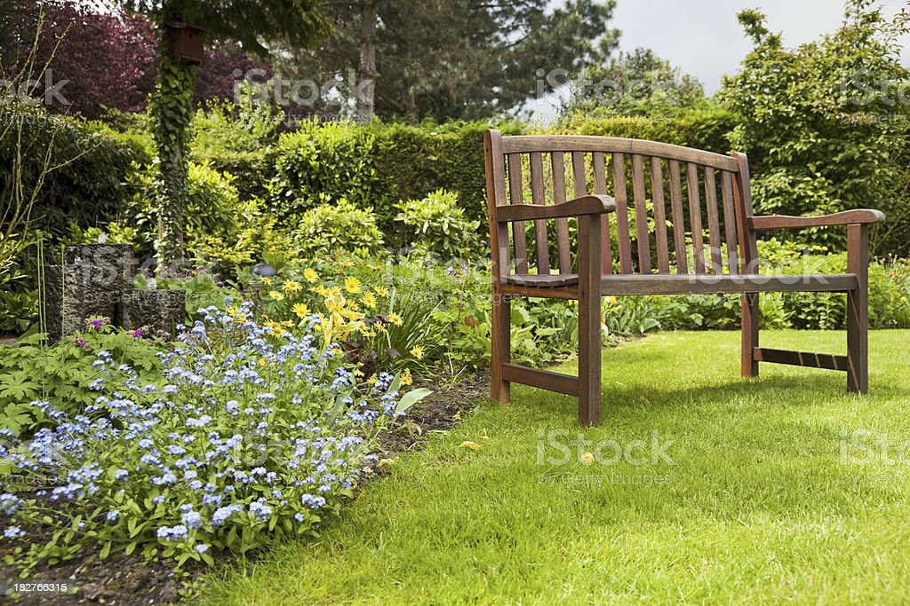 Garden and bench # 1 XXXL stock photo