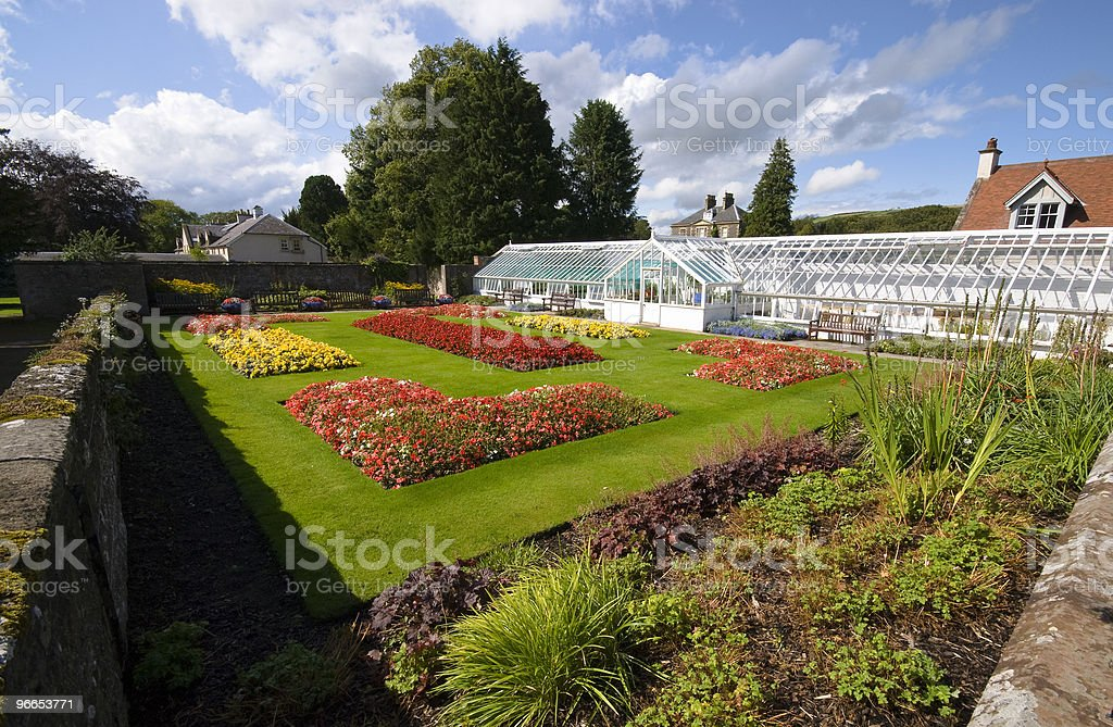 Garden and greenhouse royalty-free stock photo