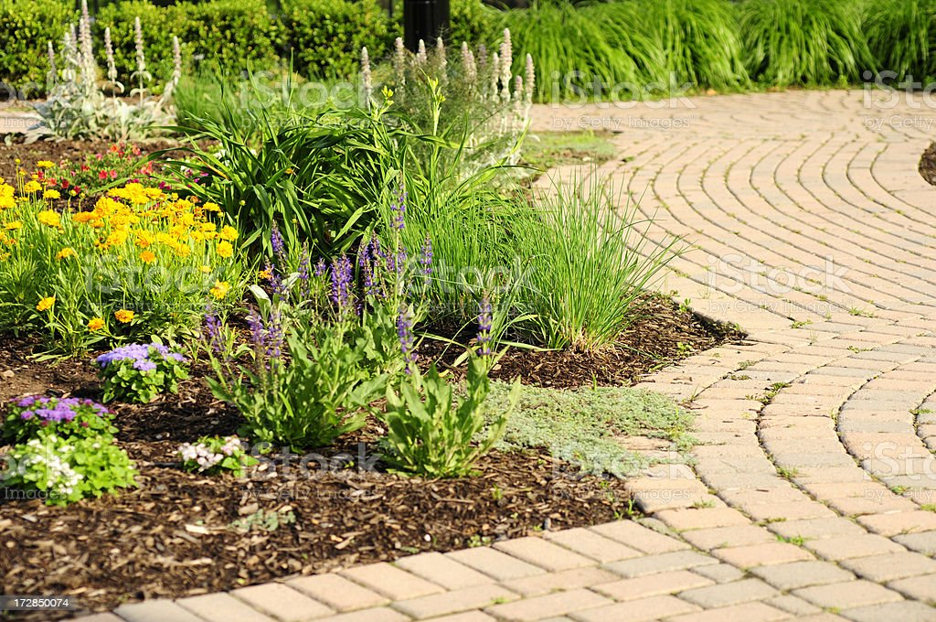 Garden and Path royalty-free stock photo