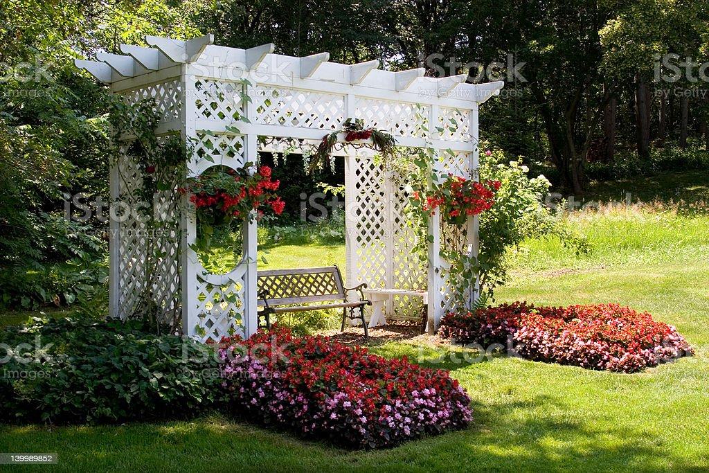 Garden Arbor stock photo