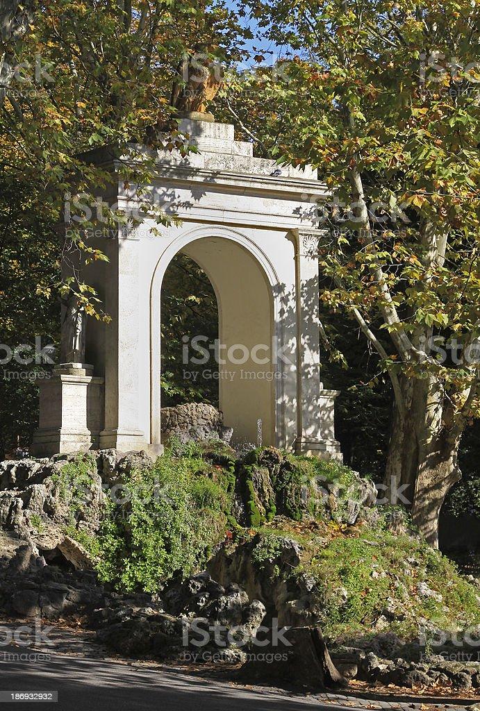 Garden arch stock photo