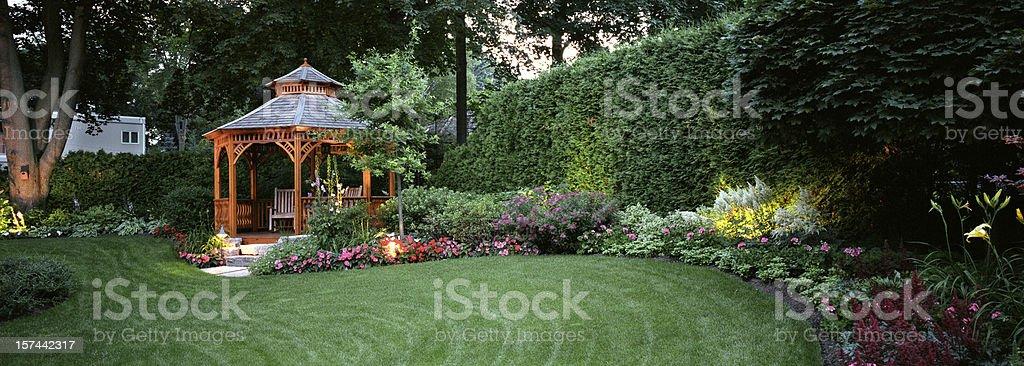 Garden at Night stock photo
