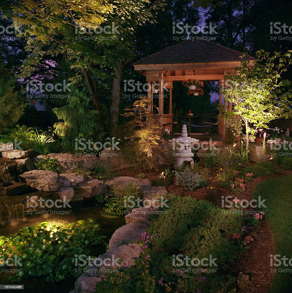 Garden at Night royalty-free stock photo