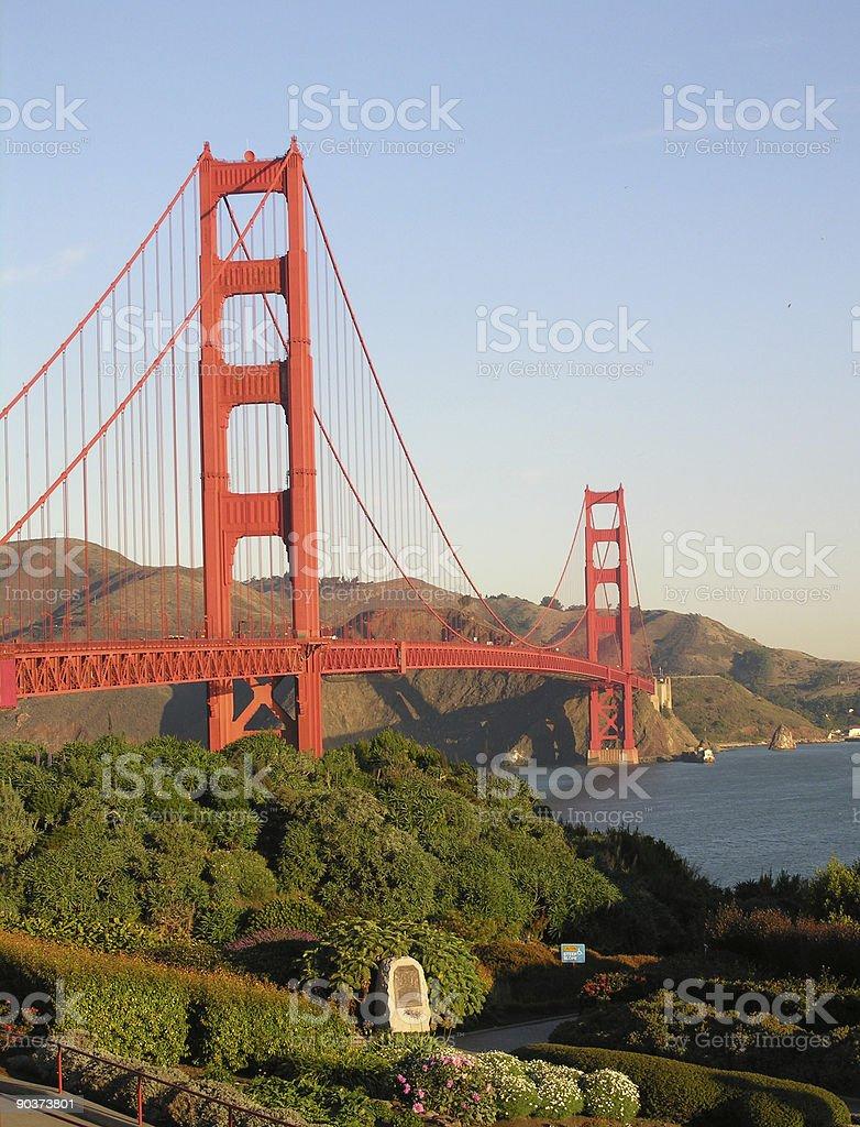 Garden at the Golden Gate Bridge, San Francisco, California royalty-free stock photo