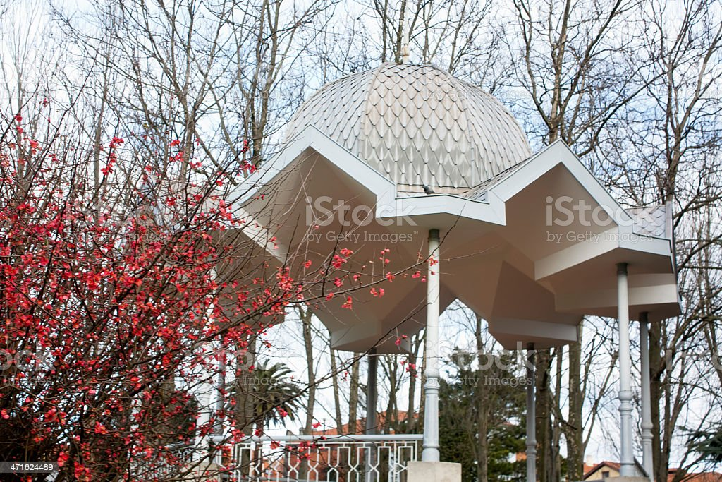 Garden bandstand. stock photo