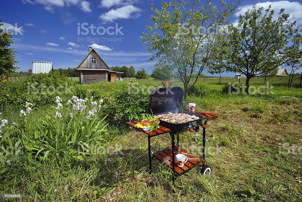 Garden BBQ royalty-free stock photo