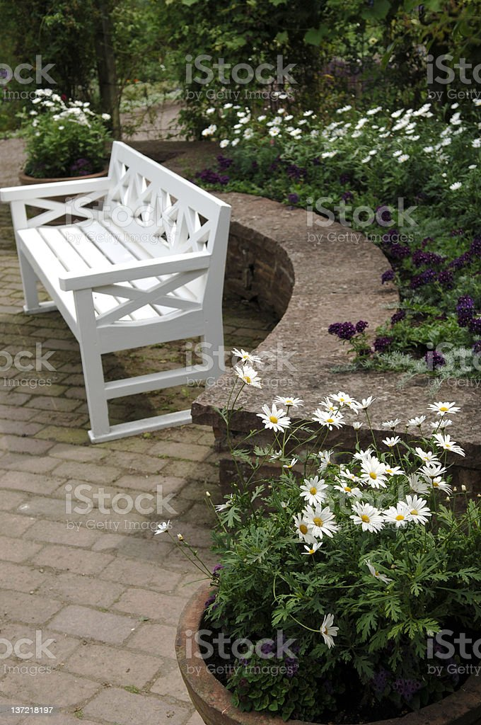Garden bench royalty-free stock photo