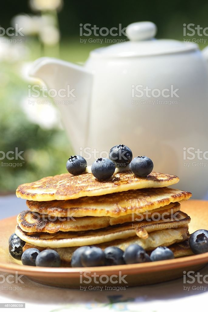 Garden breakfast royalty-free stock photo