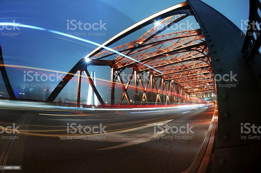 Garden Bridge of shanghai china. royalty-free stock photo