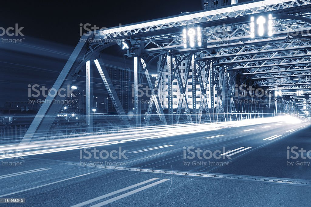 Garden Bridge of Shanghai stock photo