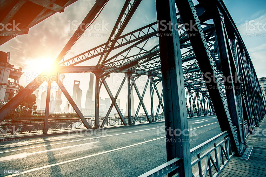 Garden Bridge of Shanghai stock photo