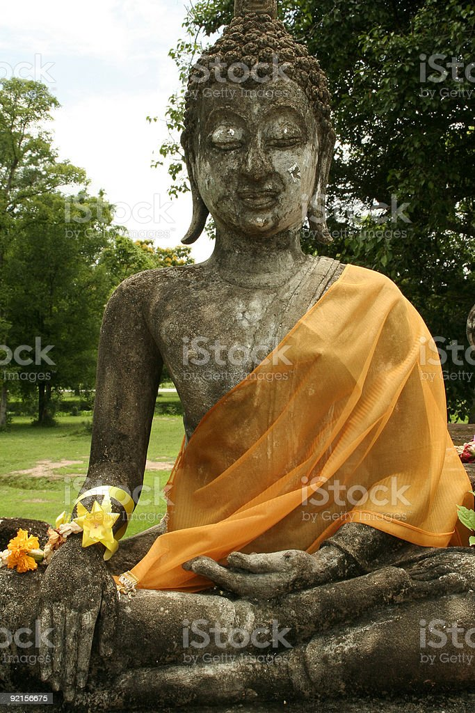 garden buddha sukhothia temple ruins thailand royalty-free stock photo