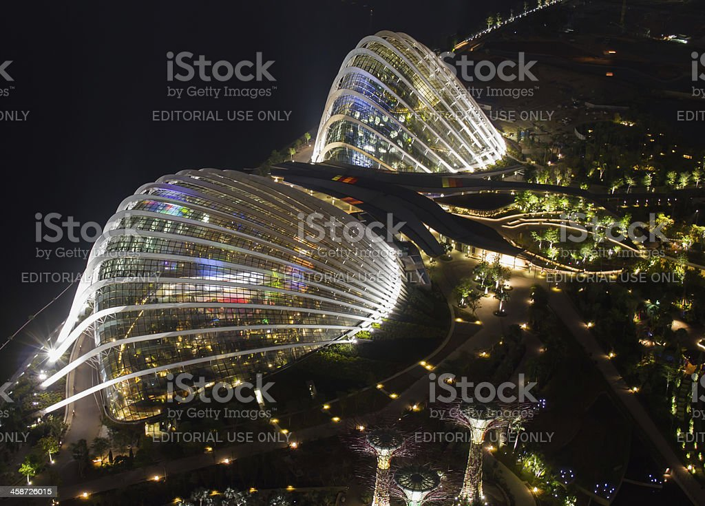 Garden by the Bay royalty-free stock photo